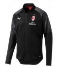 Tréningová mikina na zips AC Miláno - čierna