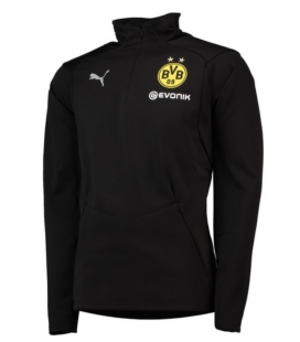Flísová vetrovka Borussia Dortmund - čierna