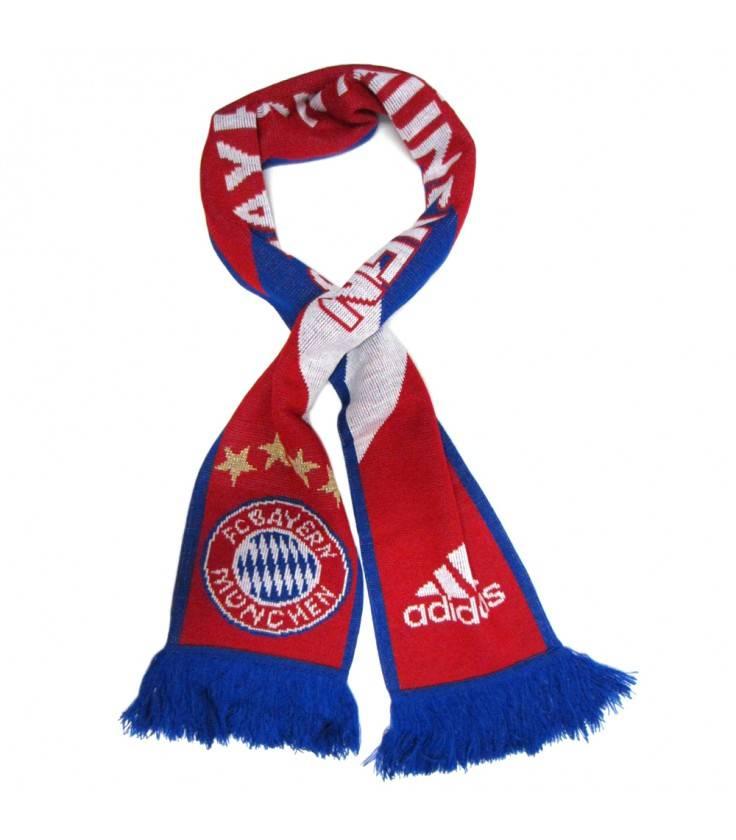 Šál Adidas Bayern Mníchov - červená/modrá