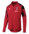 Tréningová mikina na zips AC Miláno - červená