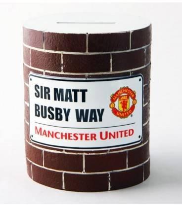 Spornička v tvare plechovky Manchester United