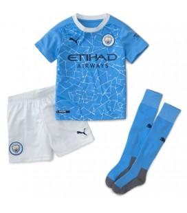 Manchester City domáci detský futbalový dres + trenírky + štucne