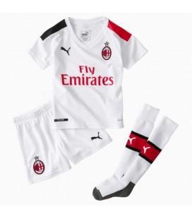 AC Miláno vonkajší detský futbalový dres + trenírky + štucne