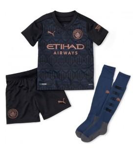 Manchester City vonkajší detský futbalový dres + trenírky + štucne
