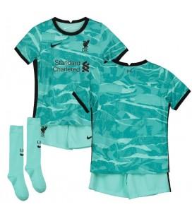 FC Liverpool vonkajší detský futbalový dres + trenírky + štucne
