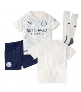 Manchester City tretí detský futbalový dres + trenírky + štucne