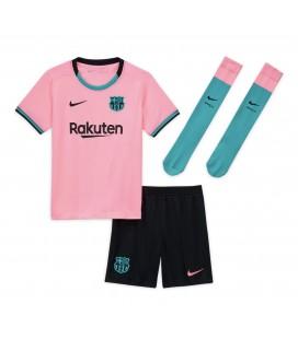 FC Barcelona tretí detský futbalový dres + trenírky + štucne
