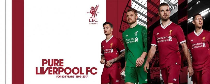 New Balance predstavil nové dresy FC Liverpool 2017/18